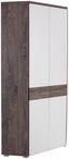 Rohová Skriňa Monza New - farby dubu/biela, Moderný, kompozitné drevo (80/196/80cm)