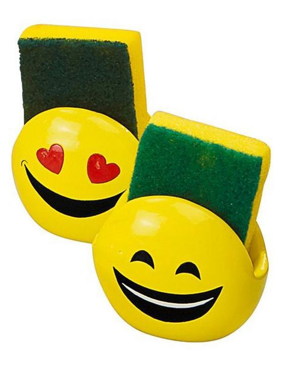Schwammhalter Smiley - Gelb, KONVENTIONELL, Kunststoff (10/7/8,5cm)
