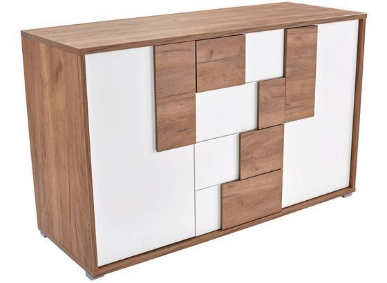 Komoda Daniel - farby dubu/biela, Moderný, kompozitné drevo (150/82/45cm)