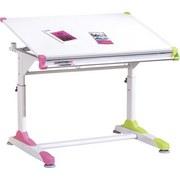 Jugendschreibtisch Neigbar B: 100 cm Weiß - Pink/Weiß, KONVENTIONELL, Holzwerkstoff/Metall (100/66/69(84)cm) - MID.YOU