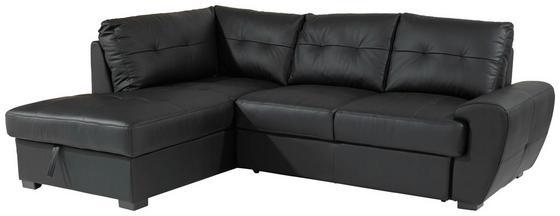 Sarokgarnitúra Burner Ii - Fekete, konvencionális, Bőr/Textil (174/244cm)