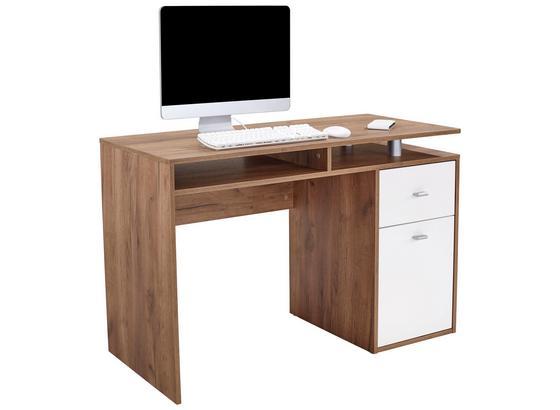 Schreibtisch dunkelbraun holz for Schreibtisch dunkelbraun