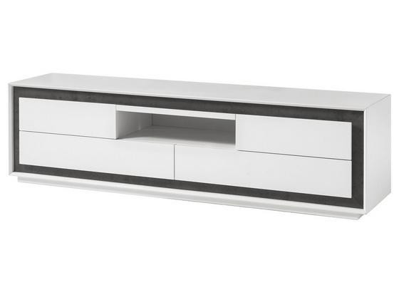 Tv Diel Durban - sivá/biela, Moderný, kompozitné drevo (180/48/40cm)