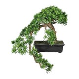Kunstpflanze Bonsai H: 90 cm Grün - Schwarz/Grün, Kunststoff (70/90cm)
