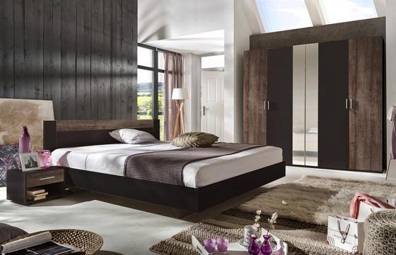Schlafzimmer Ilona - Schlammfarben/Graphitfarben, MODERN, Holzwerkstoff (509/210/210cm)