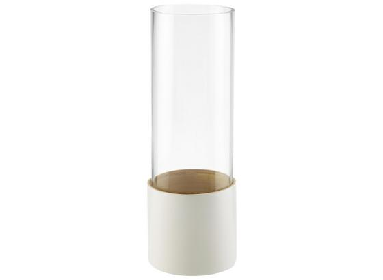 Dekoračná Váza Finja - biela, drevo/sklo (11/31cm) - Mömax modern living