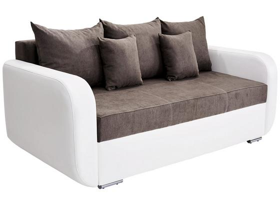 Dreisitzer-sofa Faro B: 225cm - Chromfarben/Schwarz, MODERN, Holz/Textil (225/90/92cm) - Ombra