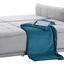 Bigsofa mit Bettfunktion und Bettkasten Modena Webstoff - Silberfarben/Hellgrau, Natur, Textil (223/92/107cm) - Luca Bessoni