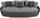 Megasofa Aruba II - Hellgrau/Schwarz, LIFESTYLE, Textil (238/80/140cm)