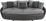 Megasofa Aruba II - Hellgrau/Schwarz, MODERN, Textil (238/80/140cm)
