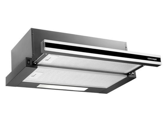 Digestoř Opv3560 - černá/barvy nerez oceli, Basics, kov/sklo (60/19/31,5cm) - Concept