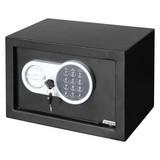 Elektrischer Tresor mit Digitalem Zahlenschloss - Schwarz, Metall (31/20/20cm)