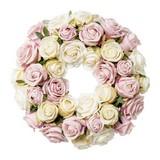 Kranz Rosenkranz D: 35 cm - Rosa, Trend, Kunststoff (35cm) - MID.YOU