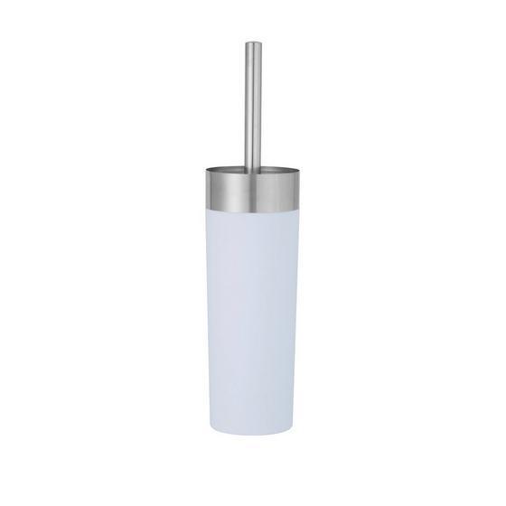 WC-Bürstengarnitur Lena - Weiß, MODERN, Kunststoff/Metall (9/36,5cm)