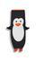 Kuscheldecke Pinguin 140x57 cm - Anthrazit, MODERN, Textil (140/57cm) - Luca Bessoni