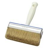 Versiegelungsbürste 10x3cm - Hellbraun/Silberfarben, KONVENTIONELL, Naturmaterialien/Kunststoff (21cm) - Gebol