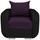 Sessel Faro B: 94cm - Chromfarben/Violett, MODERN, Holz/Textil (94/90/92cm) - Ombra