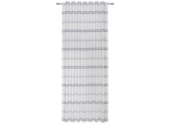 Závěs Louis - bílá/jadeitově zelená, Konvenční, textil (140/245cm) - Mömax modern living