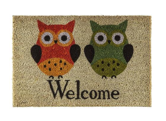 Dveřní Rohožka Welcome  Sova -top- - přírodní barvy, textil (40/60cm) - Based