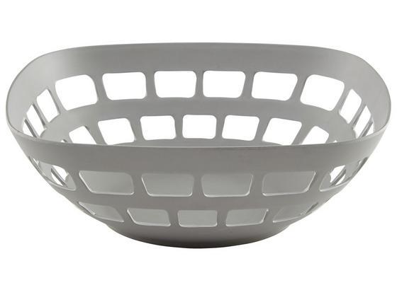 Košík Na Ovoce Solveig - šedá, Moderní, kompozitní dřevo/přírodní materiály (30/11cm) - Premium Living