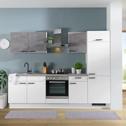 Küchenzeile in Weiß mit Geräten