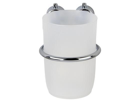 Držiak Na Zubnú Kefku Atlantik - biela/chrómová, Moderný, kov/plast (10,5/9,5/8cm)