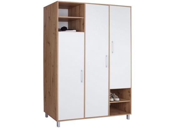 Kleiderschrank Box B:147cm Artisan Eiche - Eichefarben/Weiß, MODERN, Holzwerkstoff (147/205/55cm)