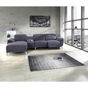 Wohnlandschaft Nightline ca. 167x306 cm - Silberfarben/Grau, MODERN, Holz/Textil (167/306cm) - Luca Bessoni