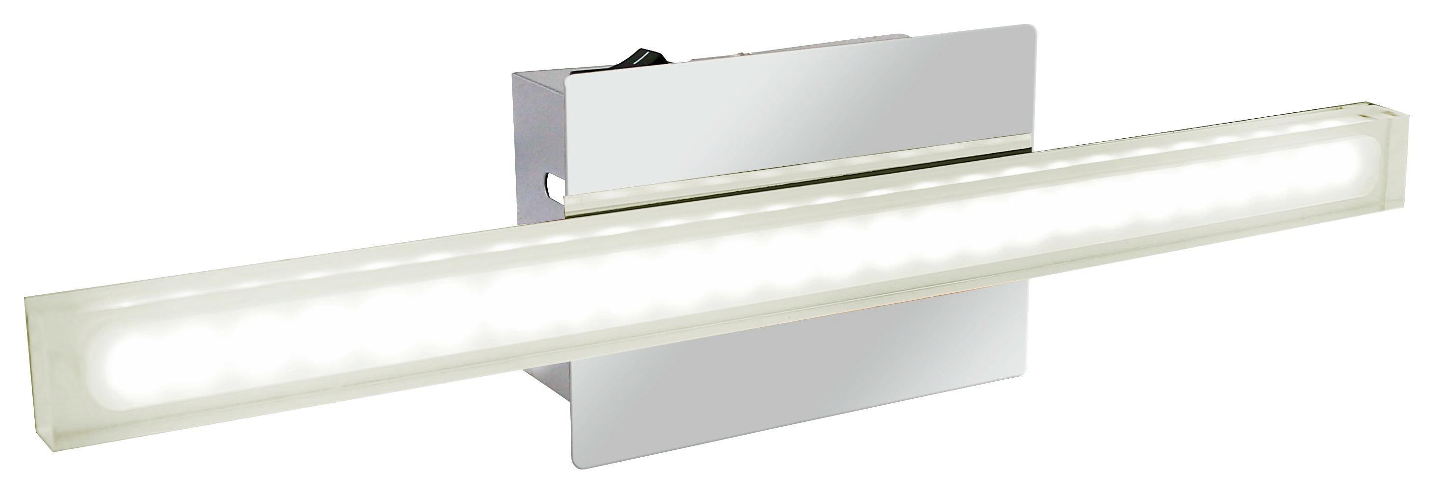 Nástenná Lampa Spark - farby chrómu, Moderný, umelá hmota/kov (7,5/8/30cm)