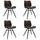 Stuhl-Set Barron 4-Er Set Taupe - Taupe/Schwarz, LIFESTYLE, Kunststoff/Metall (47/82/55cm) - Livetastic