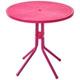 Kinder-Gartentisch Melanie I - Pink, KONVENTIONELL, Kunststoff/Metall (50/48cm) - OMBRA