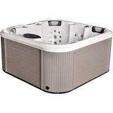 Whirlpool Acryl Florenz 200x200x91 cm - Weiß/Grau, Design, Holz/Kunststoff (200/91/200cm)