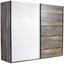 Schwebetürenschrank Moon B:241cm Driftwood/ Weiß Dekor - Braun/Weiß, MODERN, Holzwerkstoff (241/211/59cm)