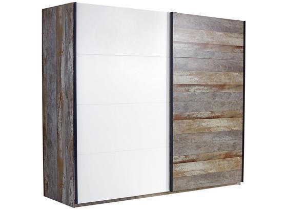 Skriňa S Posuvnými Dvermi Moon - hnedá/sivá, Moderný, kompozitné drevo (271/211/59cm)