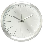 Wanduhr Albano - Silberfarben/Weiß, Basics, Glas/Kunststoff (31/31/5cm) - Ombra