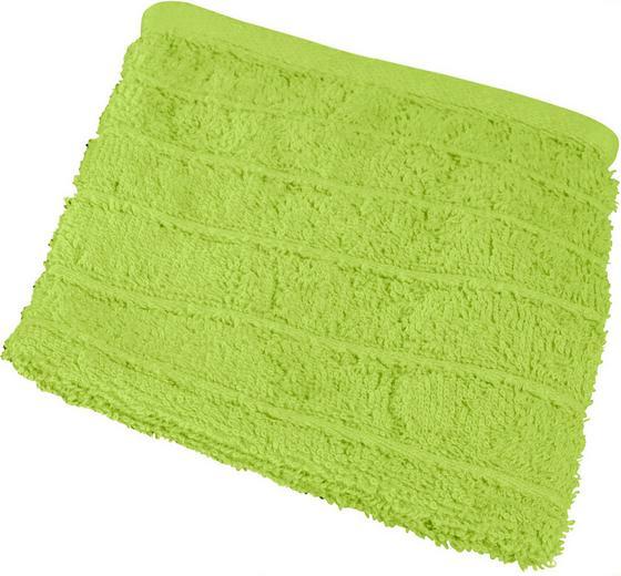 Waschlappen Lilly - Grün, KONVENTIONELL, Textil (16/21cm)