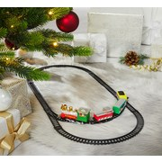 Eisenbahn Loki - Rot/Schwarz, KONVENTIONELL, Kunststoff (29,4/17/3,3cm)