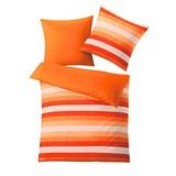 Kleine Wolke Wendebettwäsche Summer - Orange/Weiß, MODERN, Textil - KLEINE WOLKE
