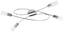 LED-Deckenleuchte Saragossa - Weiß/Nickelfarben, MODERN, Glas/Metall (72,5/41,5/13,5cm)