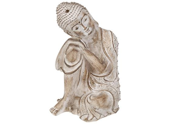 Buddha Tibor - Weiß, ROMANTIK / LANDHAUS, Kunststoff (16/25/16,5cm) - James Wood