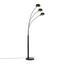 Stojacia Lampa Dorian V: 210cm, 25 Watt - čierna, Štýlový, kov (110/210cm) - Premium Living