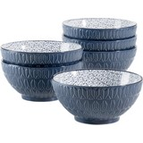 Schüsselset Telde 6-Tlg. Blau - Blau, Basics, Keramik (15,4cm)