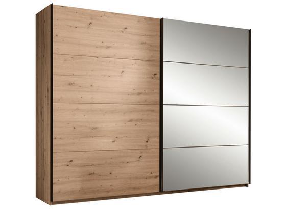 Skriňa S Posuvnými Dvermi Orlando - farby dubu/bronzová, Moderný, kompozitné drevo/sklo (215/210/60cm)