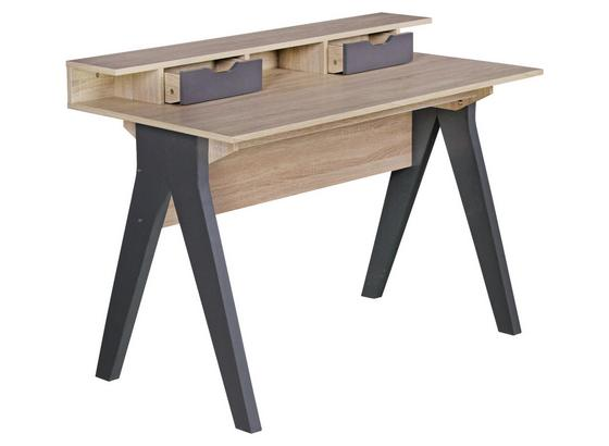 Laptoptisch Samo B: ca. 120 cm Eichedekor - Dunkelgrau/Sonoma Eiche, MODERN, Holzwerkstoff (120/87/59cm) - Livetastic
