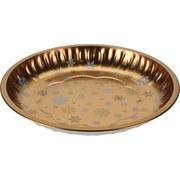 Gebäckteller D: 25,7 cm - Goldfarben, KONVENTIONELL, Metall (25,7/3,2cm)
