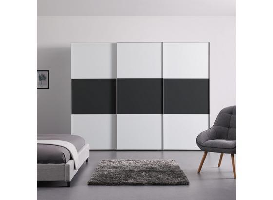 Schwebetürenschrank 280 cm Includo - Anthrazit/Weiß, MODERN, Holzwerkstoff (280/222/68cm)