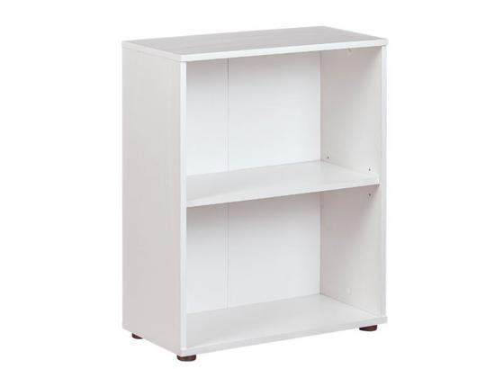 Regal Arco Weiß B: 60 cm - Schwarz/Weiß, Basics, Holzwerkstoff (60/75/30cm)