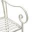 Gartenbank Pisa Eisen ca. 105/91,5/58cm - Weiß, MODERN, Metall (105/91,5/58cm) - Ombra