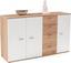 Komoda Graz Xr05 - bílá/barvy dubu, Moderní, dřevěný materiál (155/82,4/35,5cm)
