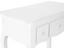 Schminktisch Oslo 78cm Weiß - Weiß, MODERN, Glas/Holz (78/79/38cm) - James Wood